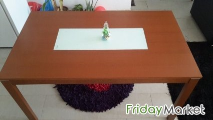 Wooden Long Dining Table IKEA Bench For Sale In Kuwait