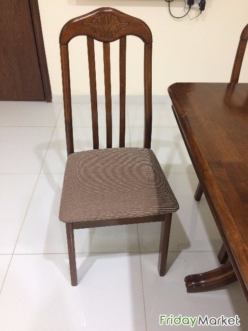 6 Chair Malaysian Wood Dining Table In Kuwait Fridaymarket