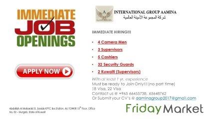 URGENT JOBS in Kuwait - FridayMarket