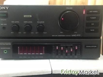 Led,power amplifier with speakers and tv trolley for sale in