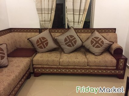 Corner Sofa set with wooden frame- for sale- 50 KD in Kuwait ...