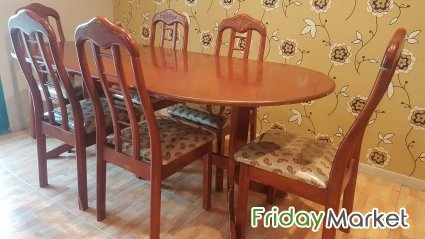 Dining Table With 6 Chairs For Sale Khaitan Kuwait