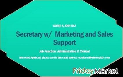 Female Office Secretary w/ Sales & Marketing Support in Kuwait