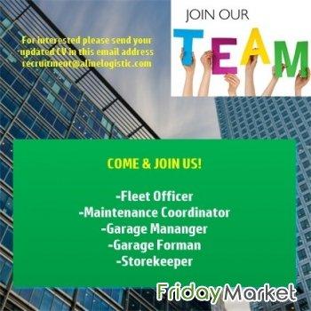 Garage Manager, Garage Foreman, Fleet Officer, Maintenance