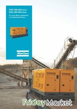 500 KVA Atlas Copco Silent Generator available - less than 500 hours