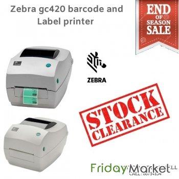 Zebra gc420d Barcode Label Printer year end sale in kuwait