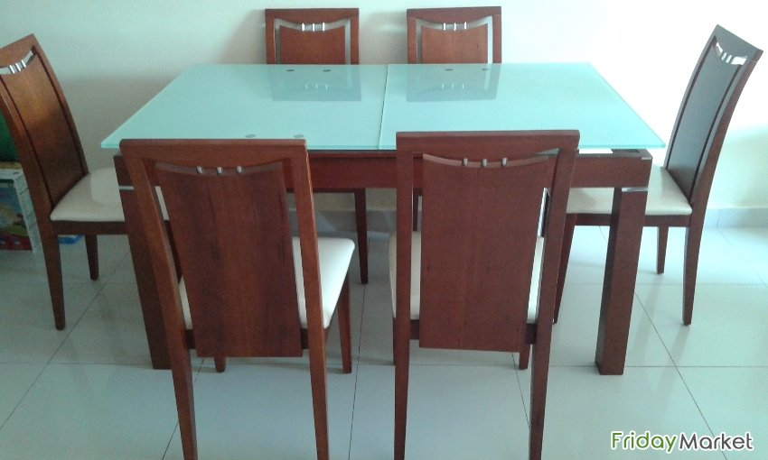 Wooden Dining Table (with Chairs) For Sale At Very Reasonable Price Salmiya Kuwait