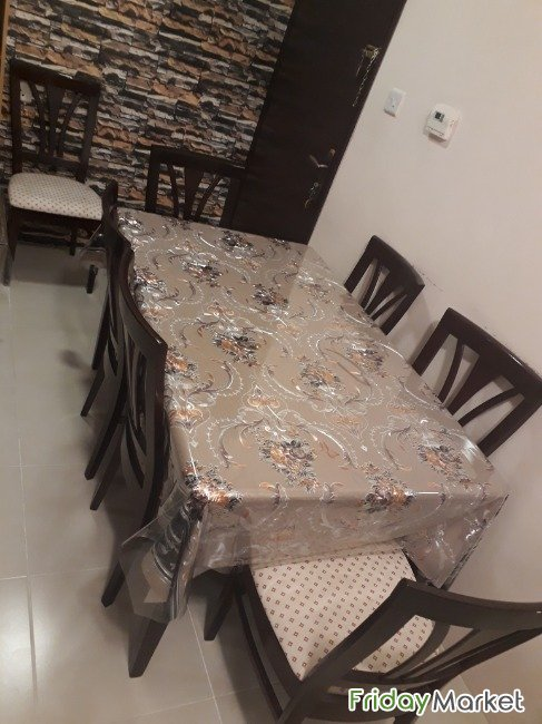 Dinning Table With 6chairs Nd 2 Arm Chairs Mahbula Kuwait